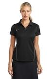 Women's Nike Golf Shirt Dri-FIT Sport Swoosh Pique Polo Black Thumbnail