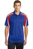 Tricolor Micropique Color Block Polo True Royal with True Red and White Thumbnail
