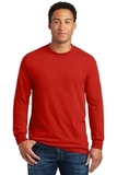 Heavy Cotton 100 Cotton Long Sleeve T-shirt Red Thumbnail