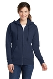 Women's Classic Full-Zip Hooded Sweatshirt Navy Thumbnail