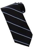 Men's Striped Pattern Tie Black Thumbnail