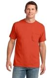 5.4-oz 100 Cotton Pocket T-shirt Orange Thumbnail
