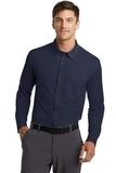 Port Authority Dimension Knit Dress Shirt Dark Navy Thumbnail