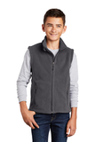 Youth Value Fleece Vest Iron Grey Thumbnail