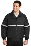 Challenger Jacket With Reflective Taping True Black with True Black and Reflective Thumbnail