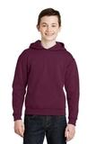 Youth Pullover Hooded Sweatshirt Maroon Thumbnail