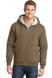 Heavyweight SherpaLined Hooded Fleece Jacket Brown Thumbnail