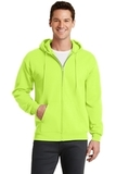 7.8-oz Full-zip Hooded Sweatshirt Neon Yellow Thumbnail
