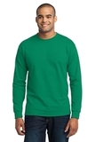 Long Sleeve 50/50 Cotton / Poly T-shirt Kelly Thumbnail