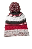 Pom Pom Team Beanie True Red with Black and White Thumbnail