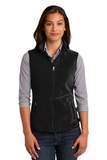 Women's Port Authority R-tek Pro Fleece Full-zip Vest Black with Black Thumbnail