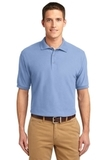Extended Size Silk Touch Polo Shirt Light Blue Thumbnail