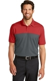 Nike Golf DriFIT Colorblock Micro Pique Polo Varsity Red with Anthracite Thumbnail