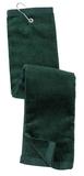 Grommeted Tri-fold Golf Towel Hunter Thumbnail