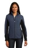 Women's Port Authority R-tek Pro Fleece Full-zip Jacket Navy Heather with Black Thumbnail
