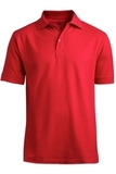 Men's Short Sleeve Soft Touch Blended Pique Polo Red Thumbnail