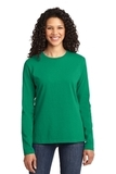 Women's Long Sleeve 5.4-oz 100 Cotton T-shirt Kelly Thumbnail