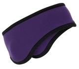 Two-color Fleece Headband Purple Thumbnail