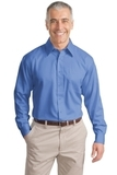 Tall Long Sleeve Non-iron Twill Shirt Ultramarine Blue Thumbnail