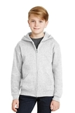 Youth Full-zip Hooded Sweatshirt Ash Thumbnail