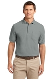 Tall Silk Touch Polo Shirt With Pocket Cool Grey Thumbnail