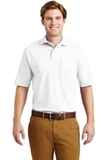 Spotshield Jersey Knit Polo With Pocket White Thumbnail