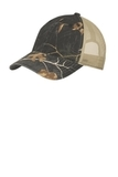 Unstructured Camouflage Mesh Back Cap Realtree Xtra Black with Tan Thumbnail