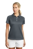 Women's Nike Golf Dri-FIT Pebble Texture Shirt Dark Grey Thumbnail