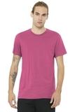 BELLACANVAS Unisex Jersey Short Sleeve Tee Charity Pink Thumbnail