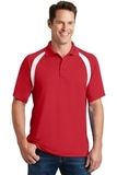 Dry Zone Colorblock Raglan Polo Shirt True Red with White Thumbnail