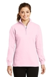 Women's 1/4-zip Sweatshirt Pink Thumbnail