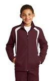Youth Colorblock Raglan Jacket Maroon with White Thumbnail
