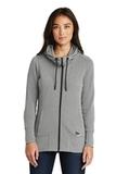 Women's New Era TriBlend Fleece FullZip Hoodie Shadow Grey Heather Thumbnail