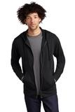 Tri-Blend Wicking Fleece Full-Zip Hooded Jacket Black Triad Solid Thumbnail