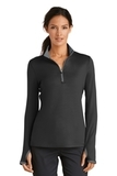 Women's Nike Golf Dri-FIT Stretch 1/2-Zip Cover-Up Black with Dark Grey Thumbnail