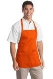 Medium Length Apron With Pouch Pockets Orange Thumbnail
