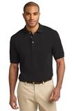Tall Pique Knit Polo Shirt Black Thumbnail