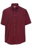 Men's Button Down Poplin Shirt SS Wine Thumbnail