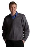 Men's 100 Acrylic V-neck Sweater Charcoal Thumbnail