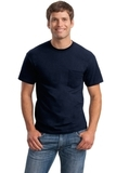 Ultra Cotton 100 Cotton T-shirt With Pocket Navy Thumbnail