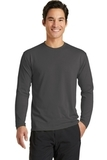 Long Sleeve Essential Blended Performance Tee Charcoal Thumbnail