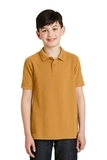 Youth Silk Touch Polo Shirt Gold Thumbnail