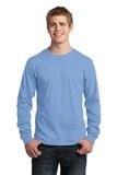 Long Sleeve 5.4-oz. 100 Cotton T-shirt Light Blue Thumbnail