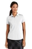 Women's Nike Golf Dri-FIT Smooth Performance Modern Fit Polo White Thumbnail