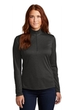 Ladies Endeavor 1/4-Zip Pullover Black Heather Thumbnail