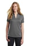 Women's Nike Golf Dri-FIT Hex Textured V-Neck Top Dark Grey Thumbnail