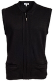 Two Pocket Zipper Vest Black Thumbnail