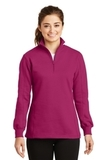 Women's 1/4-zip Sweatshirt Pink Rush Thumbnail