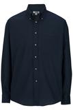 Men's Button Down Poplin Shirt LS Navy Thumbnail