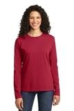 WMC Perinatal Women's Long Sleeve 5.4-oz 100 Cotton T-shirt Red Thumbnail